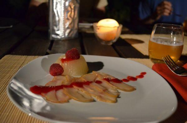 pesce spada con gelatina di melone