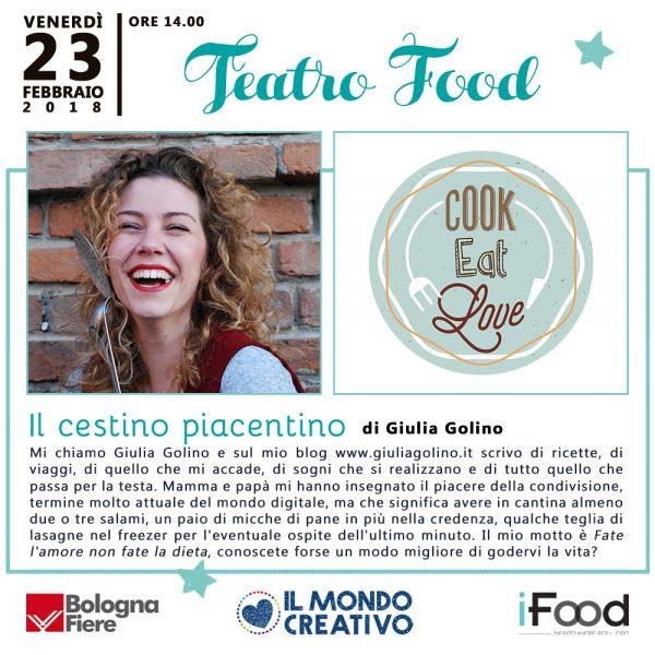 Mondo Creativo 2018 Teatro Food Cooking Show Bologna